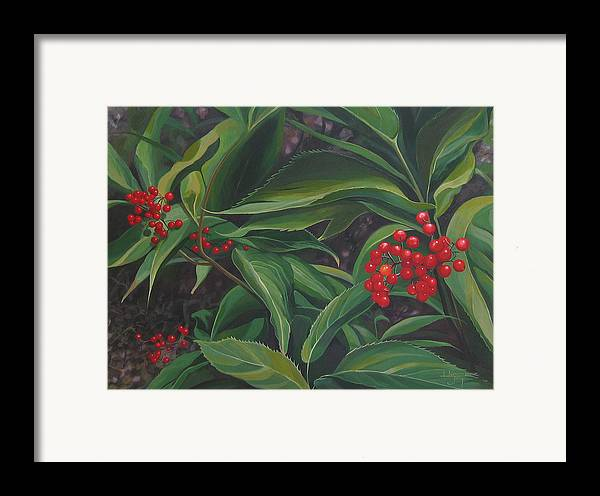 Berries Framed Print featuring the painting The Berries On Guanella Pass by Hunter Jay