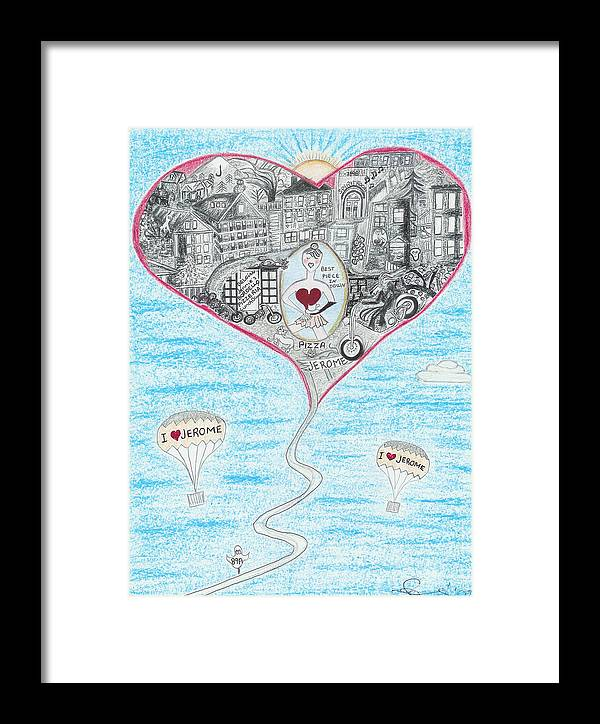 Pizza Framed Print featuring the drawing The Best Piece Of Pizza by Ingrid Szabo