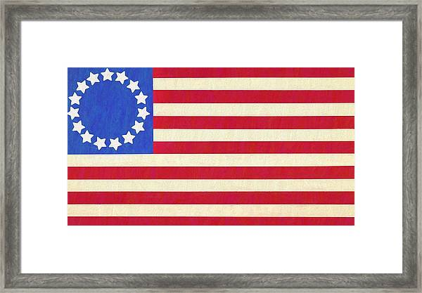 photograph relating to Betsy Ross Printable Pictures called The Betsy Ross Flag Framed Print