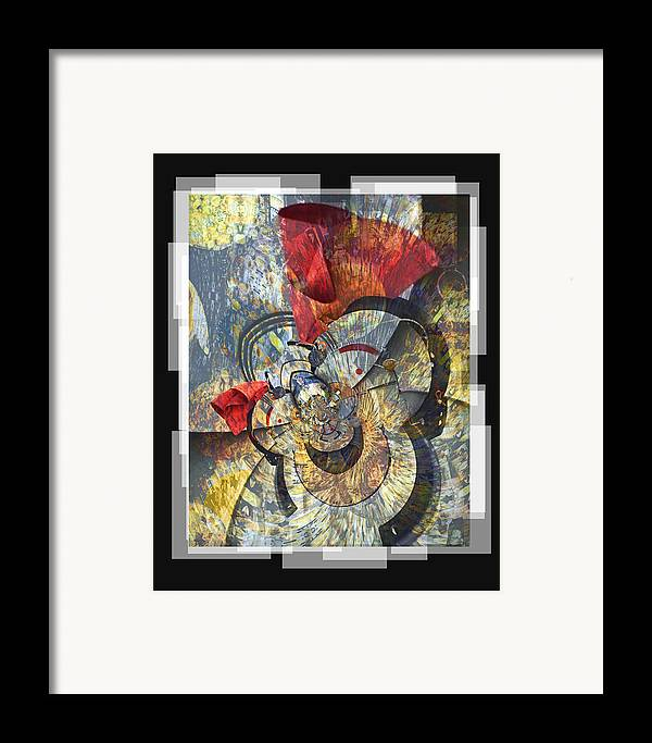 Bang Framed Print featuring the digital art The Big Bang by Chuck Brittenham