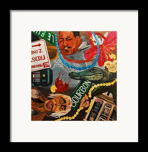 Louisiana Framed Print featuring the painting The Big Easy by Lauren Luna