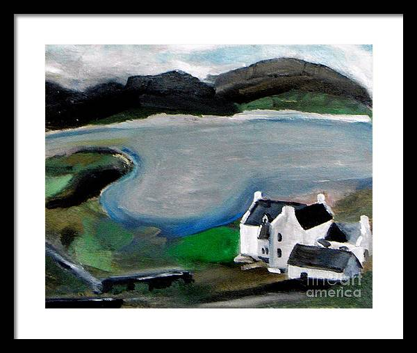 Landscape Framed Print featuring the painting The Big House by Maria Julia Bastias