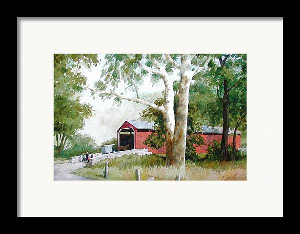 Sycamore Framed Print featuring the painting The Big Sycamores by Faye Ziegler