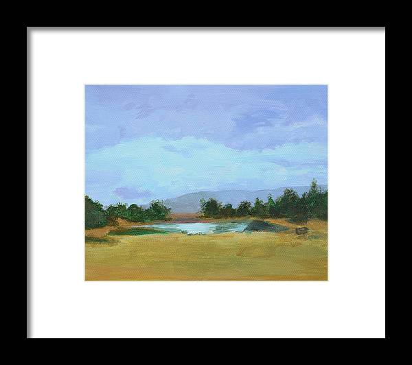 Landscape Framed Print featuring the painting The Big Thaw by Mary Chant