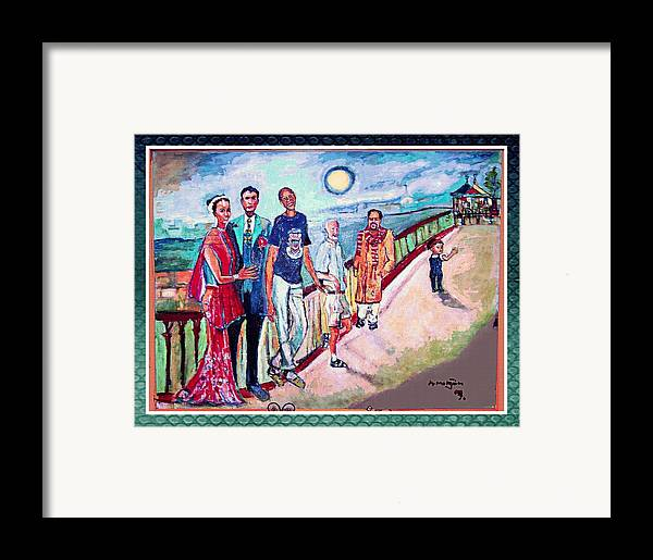 Diversity Framed Print featuring the painting The Billerica Portrait by Noredin morgan