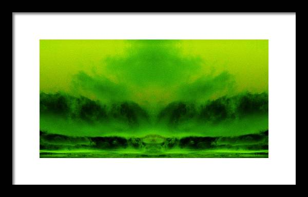 The Birth Of Maui Framed Print featuring the digital art The Birth Of Maui by Geoff Simmonds