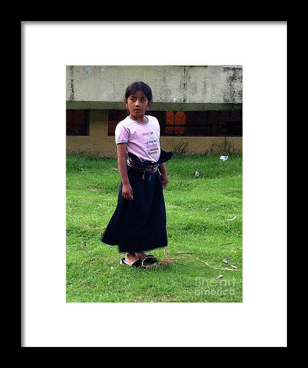 Children Framed Print featuring the photograph The Black Dress by Alisha Robertson