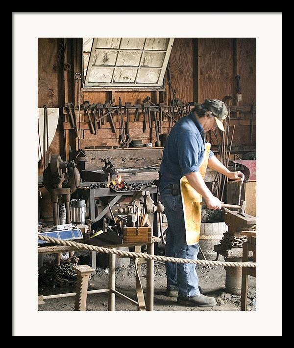 Decor Framed Print featuring the photograph The Blacksmith by Ron Kizer