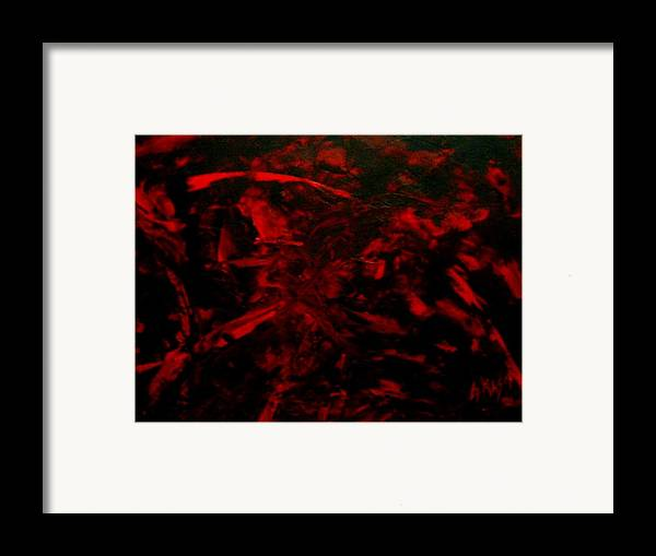 Abstract Framed Print featuring the painting The Blood by Guillermo Mason