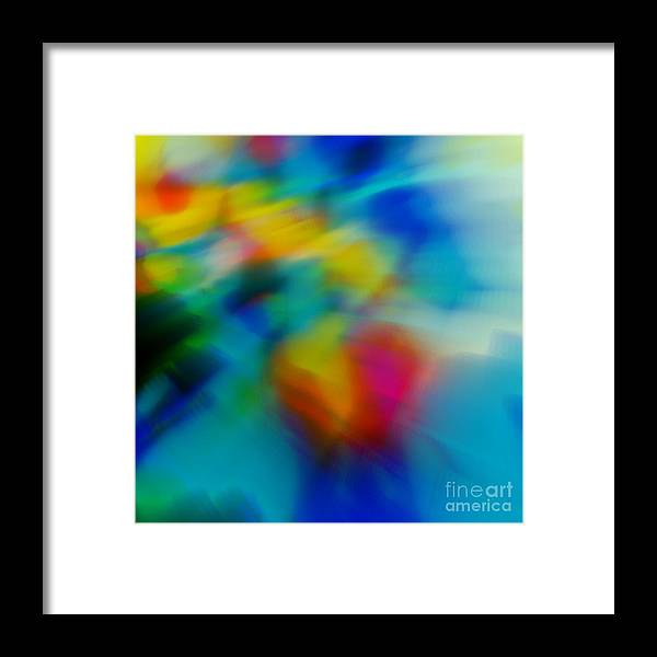 Abstract Framed Print featuring the painting The Blossom Within by Wbk