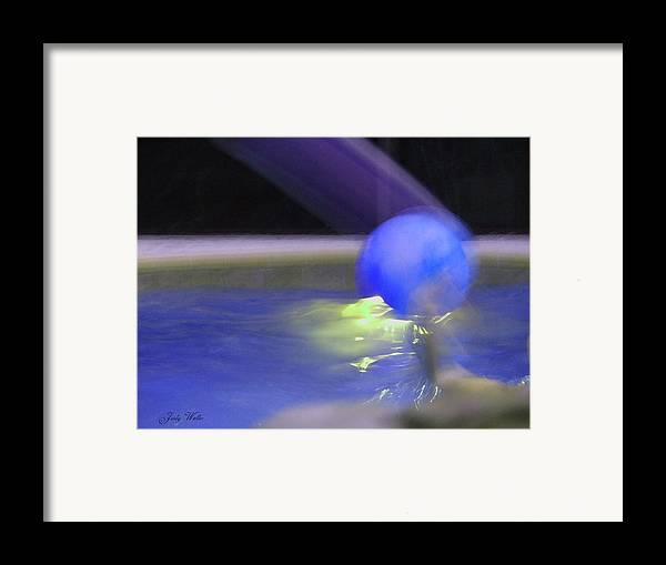3-d Framed Print featuring the photograph The Blue Ball by Judy Waller