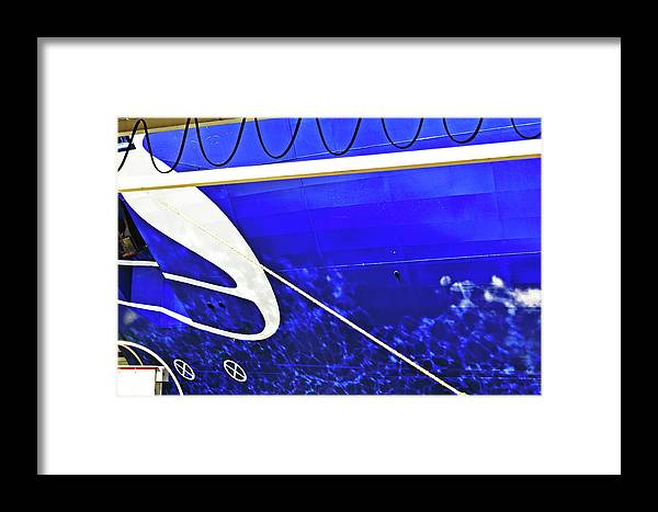 The Framed Print featuring the photograph The Blue Ferry by HazelPhoto