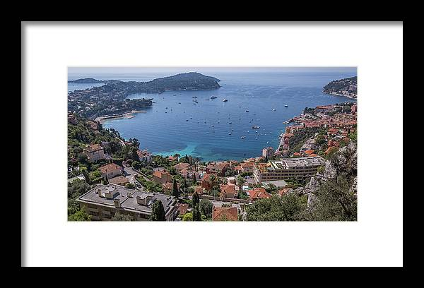 Ocean Framed Print featuring the photograph The Blue Waters Of Nice, France by Scott Ricks