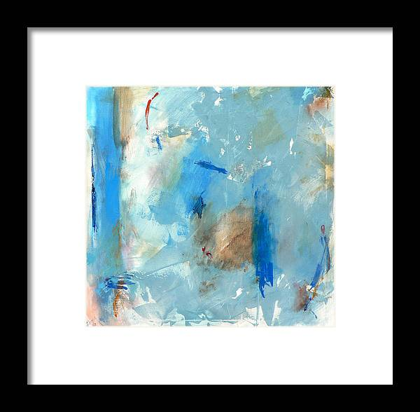 Abstract Framed Print featuring the painting The Blues by Jacquie Gouveia