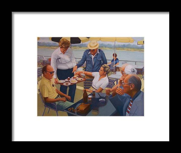 Rhine River Cruise Framed Print featuring the painting The Boat Party by Diane Caudle