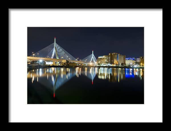 Boston Photographs Photographs Photographs Framed Print featuring the photograph The Boston Bridge by Shane Psaltis