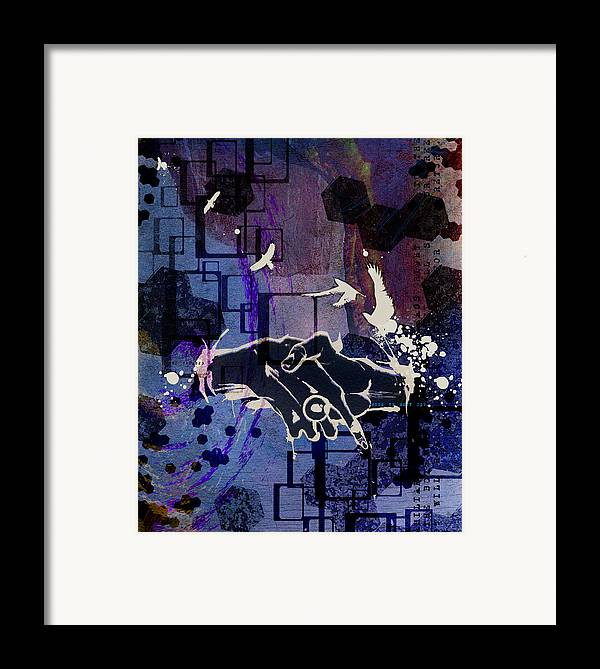 Digital Paintings Framed Print featuring the painting The Box Will Open by Mark M Mellon