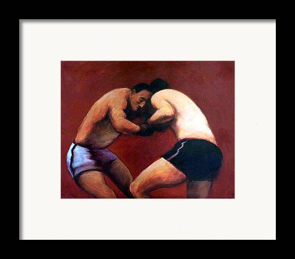 Boxers Framed Print featuring the painting The Boxers by James LeGros