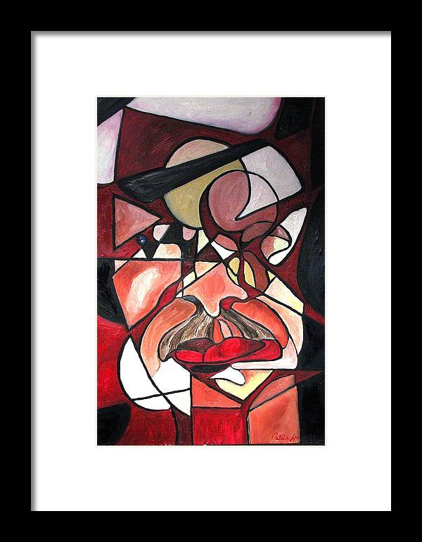Abstract Framed Print featuring the painting The Brain Surgeon by Patricia Arroyo