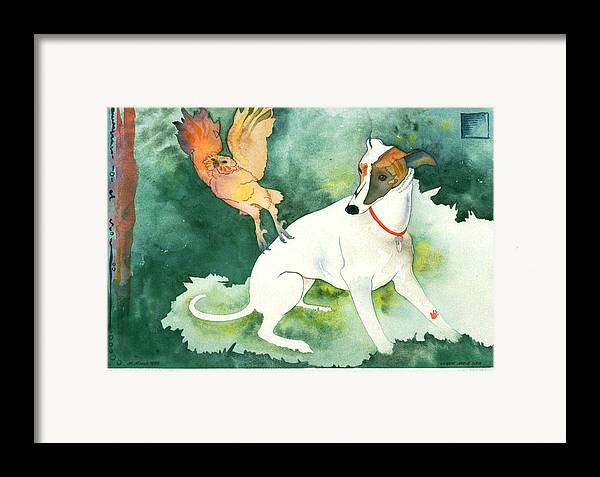Watercolor Framed Print featuring the painting The Break In The Forest by Eileen Hale