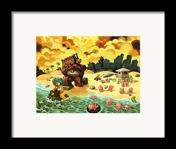 Relationships Framed Print featuring the painting The Break-up by Luis Diaz