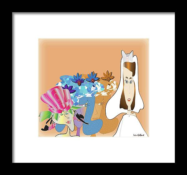 Bride Framed Print featuring the digital art The Bridal Party by Iris Gelbart