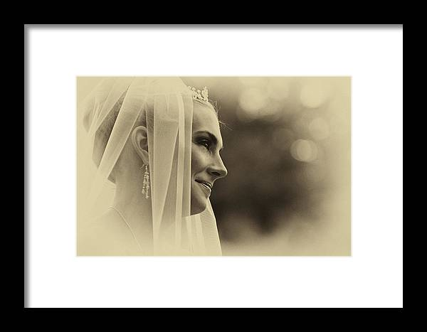 Vintage Framed Print featuring the photograph The Bride Example by David Patterson