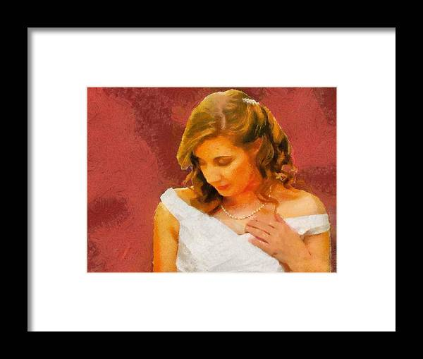 Wedding Framed Print featuring the painting The Bride To Be by Jeffrey Kolker