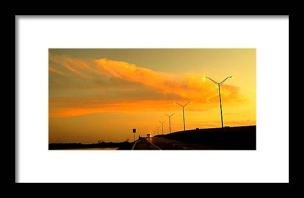 Sunset Framed Print featuring the photograph The Bridge At Sunset by Ian MacDonald