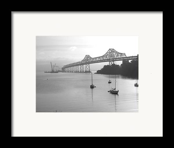Bridges Framed Print featuring the photograph The Bridge Is Coming by Jerry Patchin