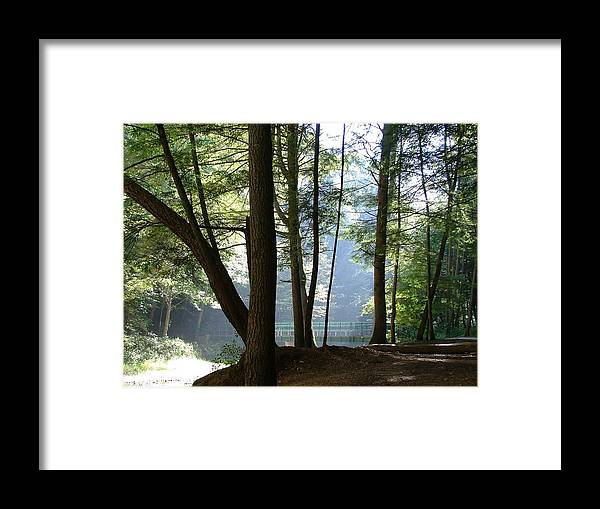 Bridge Framed Print featuring the photograph The Bridge of Peace Forever by Mindy Newman