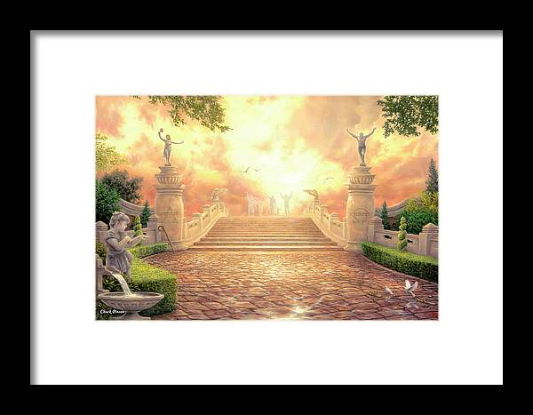 Heaven Framed Print featuring the painting The Bridge Of Triumph by Chuck Pinson