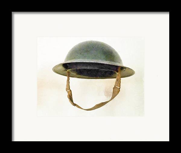 Brodie Framed Print featuring the photograph The British Brodie Helmet by Steve Taylor