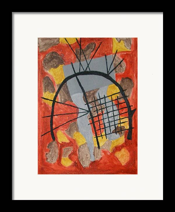 Contemporary Framed Print featuring the painting The Broken Circle by Harris Gulko
