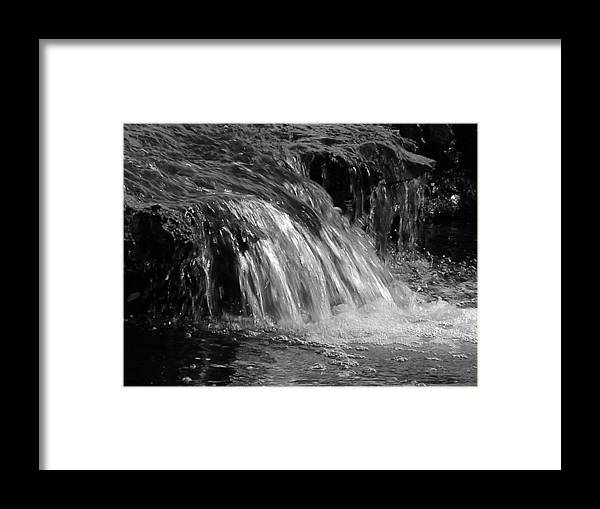 Water Framed Print featuring the photograph The Brook by Audrey Venute