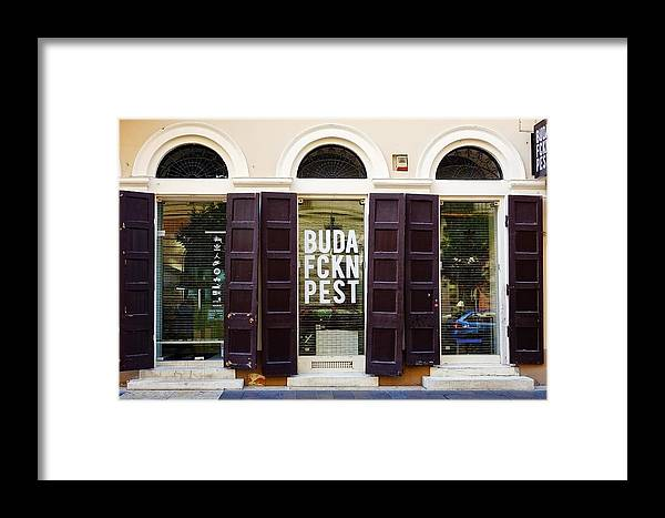 The Buda Fckn Pest Store In Budapest, Hungary Framed Print by ...