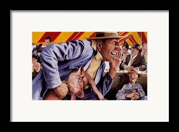 Country Fair Framed Print featuring the painting The Buffoon And The Countryman by Denny Bond