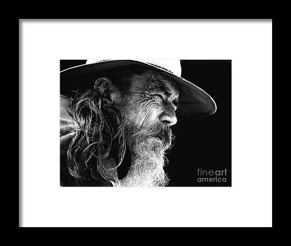 Australian Bushman Hat Framed Print featuring the photograph The Bushman by Sheila Smart Fine Art Photography