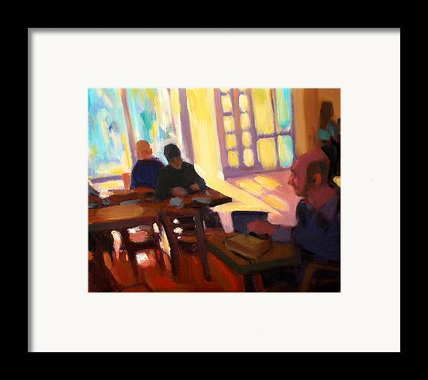 Cafe Framed Print featuring the painting The Cafe by Merle Keller