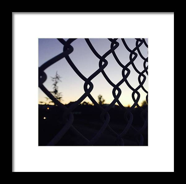 Morning Sun Framed Print featuring the photograph The Caged Morning by Aria Saint Jean