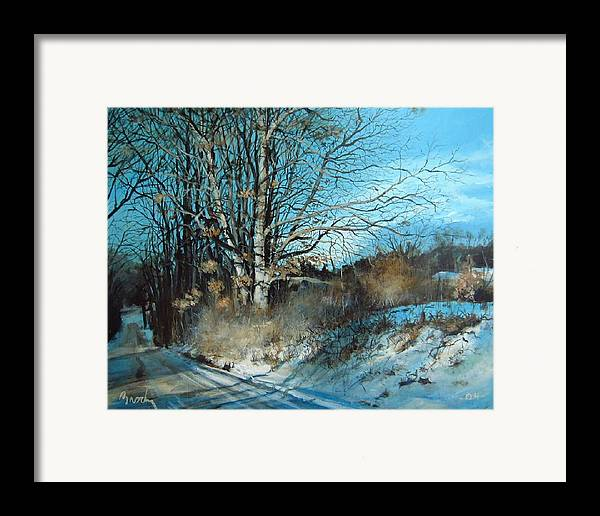Landscape Framed Print featuring the painting The Calling by William Brody