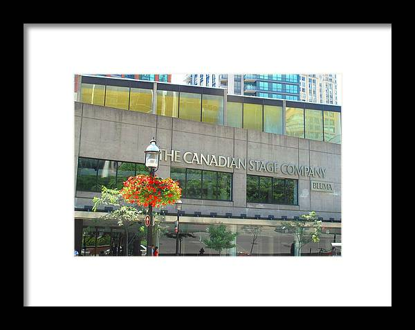 Canada Framed Print featuring the photograph The Canadian Stage Company by Ian MacDonald