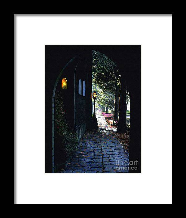 Emergence Framed Print featuring the painting The Candle by Robert Foster