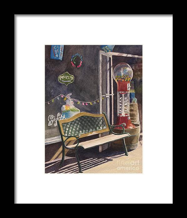 Candy Framed Print featuring the painting The Candy Shop by Karen Fleschler