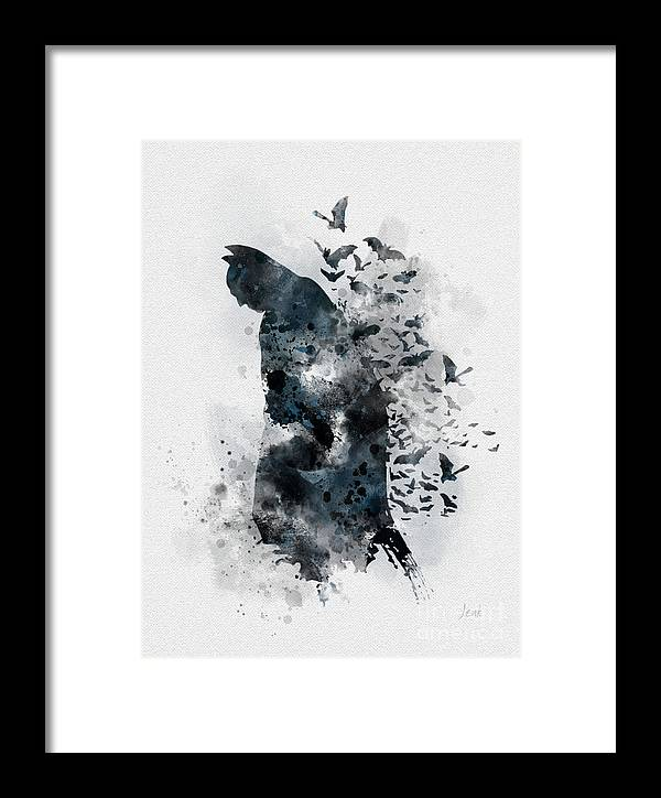 Batman Framed Print featuring the mixed media The Caped Crusader by My Inspiration