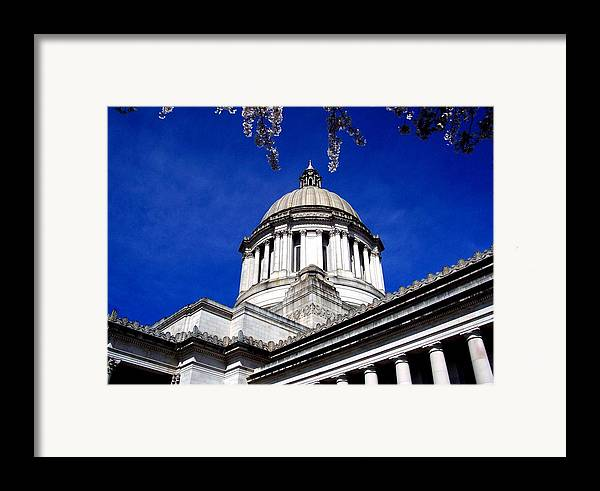 Capital Framed Print featuring the photograph The Capital by Kevin D Davis