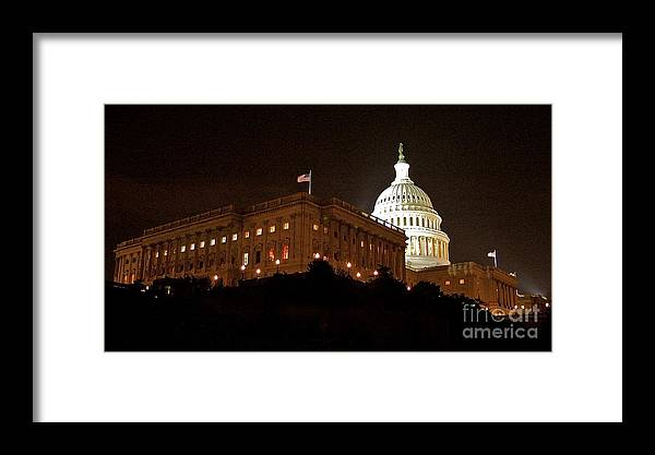Capitol Building Framed Print featuring the photograph The Capitol by Mark Lemon