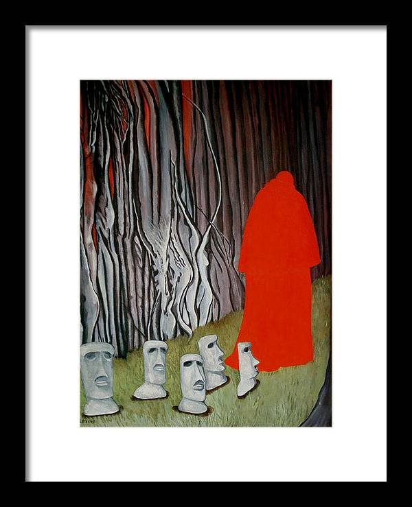 Surreal Framed Print featuring the painting The Cardinal by Georgette Backs