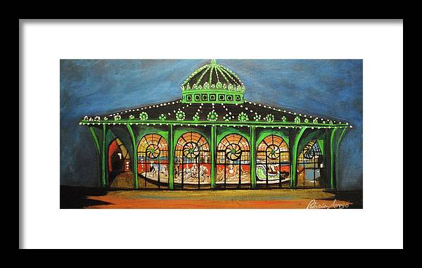 Asbury Park Framed Print featuring the painting The Carousel of Asbury Park by Patricia Arroyo