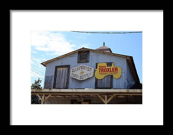 Historic Carpenter Farm Supply Framed Print featuring the photograph The Carpenter Farm Supply by Selena Wagner